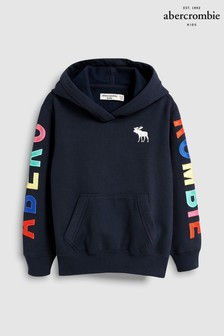 Abercrombie & Fitch Navy Core Logo Hoody