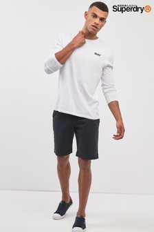 Superdry Black Slim Chino Short