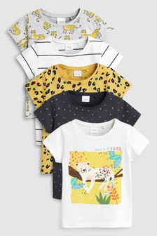 Short Sleeve T-Shirts Five Pack (3mths-7yrs)
