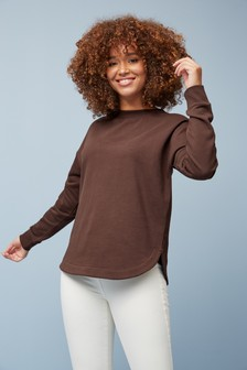 Curved Hem Sweatshirt