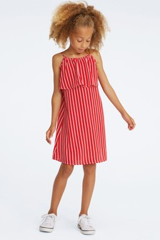 Tommy Hilfiger Girls Fine Stripe Dress