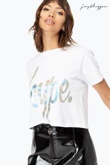 Hype. Womens Script Crop T-Shirt