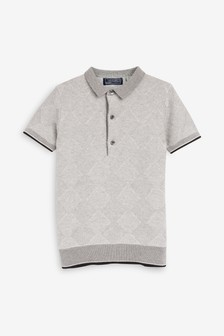 Argyle Knitted Polo (3-16yrs)