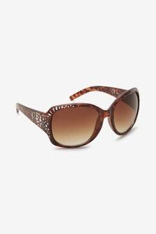 Large Square Bling Sunglasses