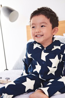 Blue Star Traditional Button Through Pyjamas (9mths-8yrs)