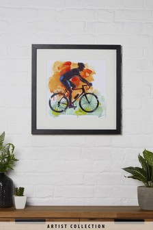 Artist Collection The Cyclist by James Paterson Framed Print