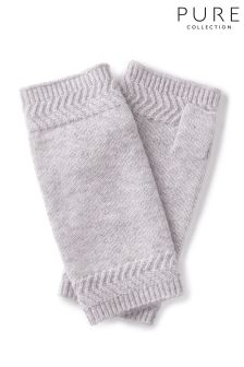 Pure Collection Grey Cashmere Mittens