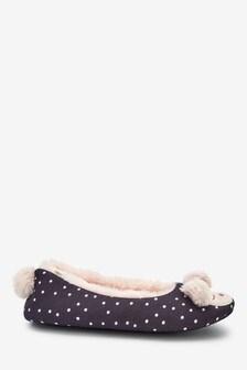 'Bethany' Bear Ballerina Slippers