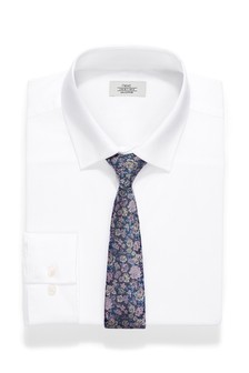 Regular Fit Shirt And Floral Tie Set