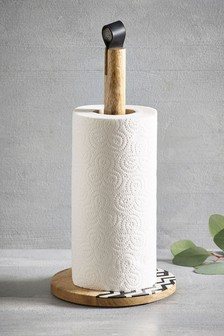 Solid Wood Kitchen Roll Holder