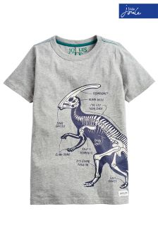 Joules Grey Ray Glow In The Dark T-Shirt