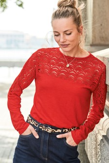 Lace Yoke Top