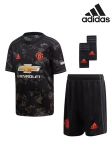 adidas Black Manchester United 2019/2020 Mini Kit
