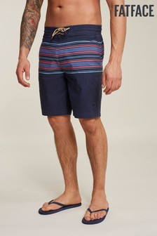 FatFace Blue Camber Stripe Swimmers