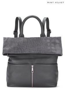 Mint Velvet Grey Alex Zip Backpack