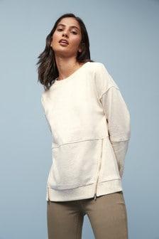 Zip Side Sweatshirt