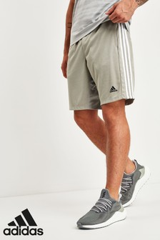 adidas Grey 3 Stripe Short