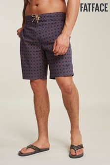 FatFace Orange Camber Tile Print Swimmers