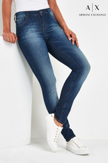 Armani Exchange Blue Skinny Jeans
