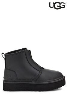 UGG Black Neumel Platform Front Zip Boots