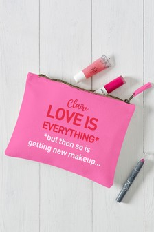 Personalised LOVE IS Cosmetic Bag