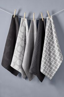 5 Pack Geometry Tea Towels
