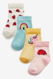 Набор из четырех пар ярких носков (Младшего возраста)
