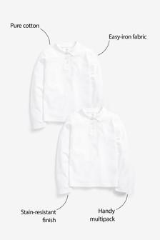 Набор из 2 рубашек поло с длинными рукавами (3-16 лет)