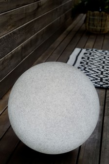 Large Concrete Effect Solar Ball