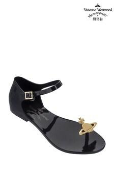 Vivienne Westwood Black Orb Toe Post Sandal