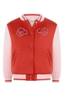 Girls Red/Pink Baseball Jacket