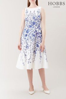 Hobbs White Evelyn Dress