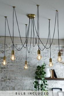 Brass Loft 6 Light Pendant