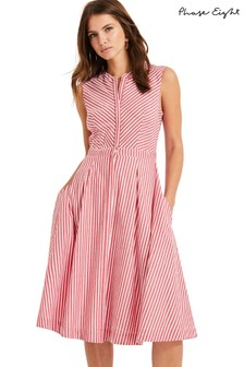 Phase Eight Red Ajee Stripe Dress