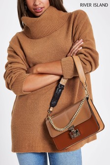 River Island Tan Roll Neck Jumper