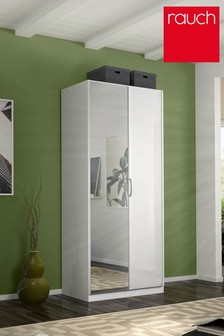 Courtney White Glass Double Hinged Wardrobe by Rauch
