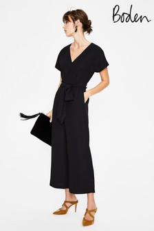 Boden Black Romilly Jumpsuit