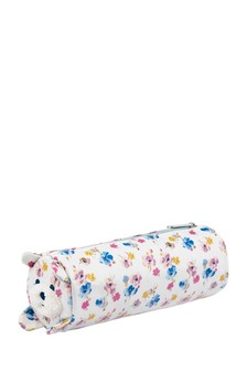 Cath Kidston® White Mini Primrose Spray Novelty Pencil Case