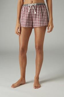 Gingham Woven Shorts