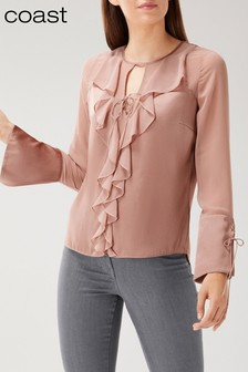 Coast Pink Alicia Ruffle Top