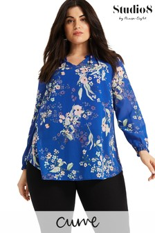 Studio 8 Blue Gloria Floral Blouse