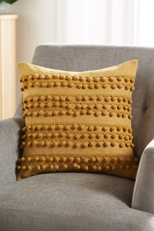 Pom Pom Stripe Cushion