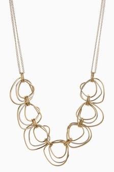 Multi Ring Short Necklace