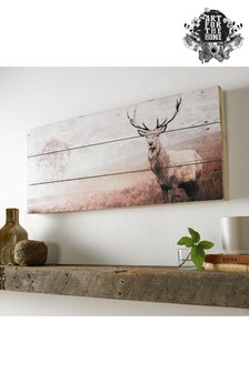 Stag Wooden Plaque by Art For The Home