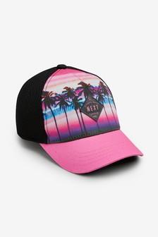 قبعة كاب طباعة نخيل (الأطفال الكبار)