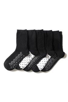 Комплект: пять пар носков с кружевным узором