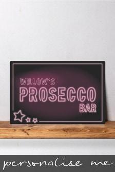 Personalised Prosecco Bar Metal Wall Art/Metal Sign
