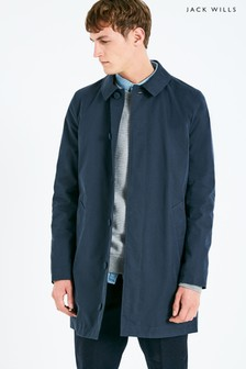 Jack Wills Navy Dundraw Garment Washed Mac