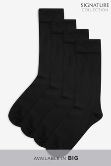 Signature Modal Blend With Cashmere Socks Four Pack
