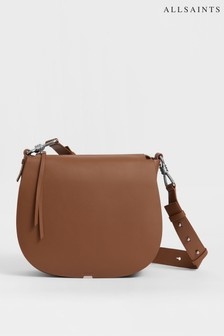 Sac bandoulière AllSaints Captain marron arrondi